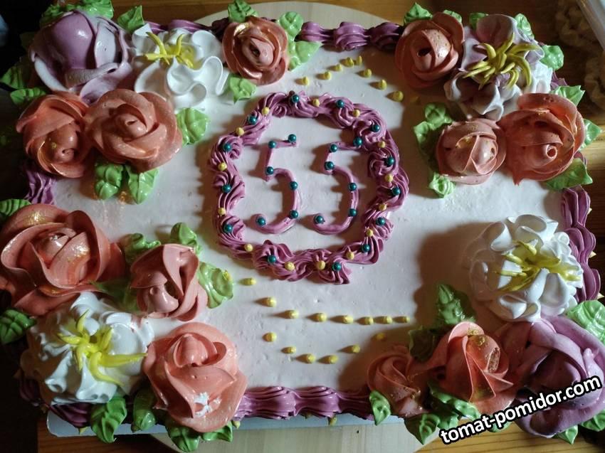 Торт для супруга на 55-летие