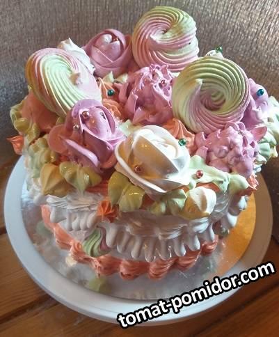 Тортик для дочки, а вернее для ее подружек)))