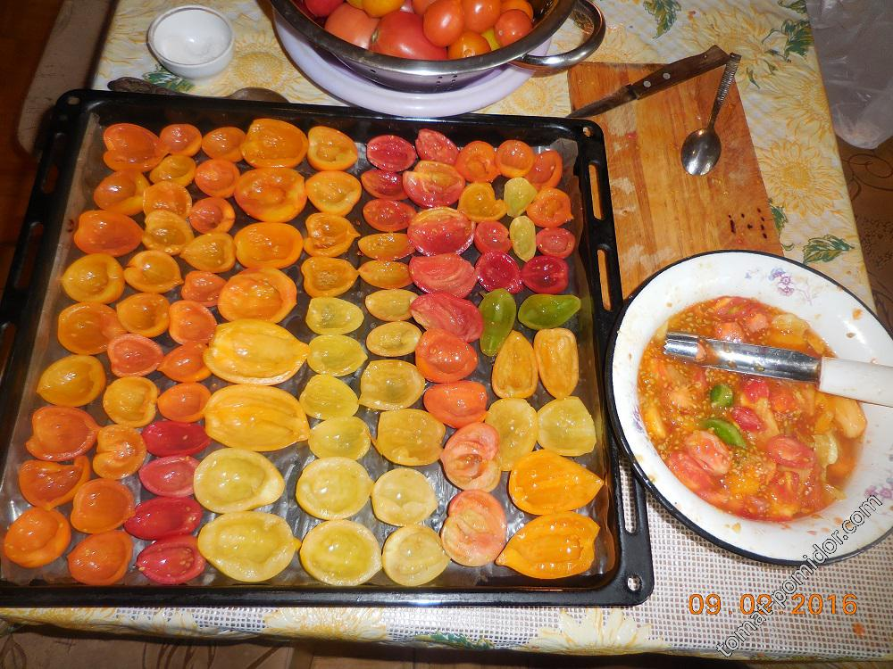 Вяление помидоров. Шаг 2