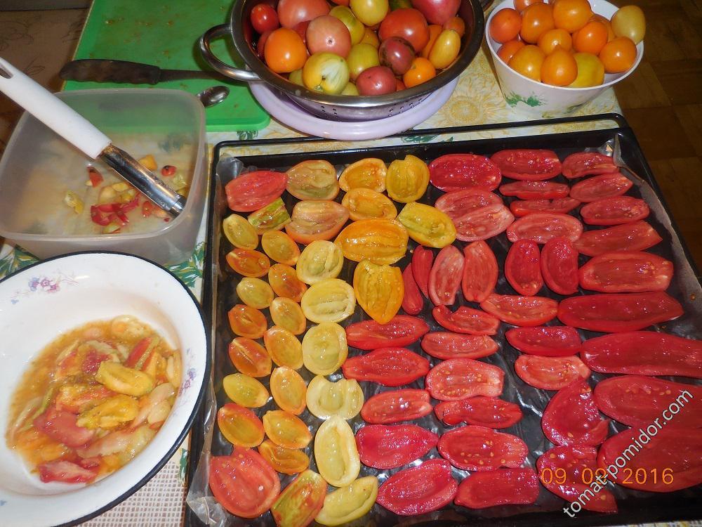 Вяление помидоров. Шаг 1
