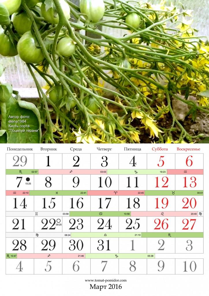 Лунный календарь 26 марта