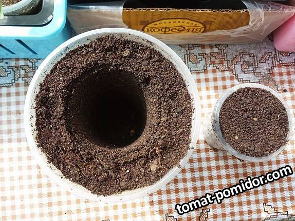 2019-03-16_16-54-46_694 Перевалка рассады острого перца из 100 гр стакана в 0,5 л