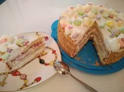 Бисквитный тортик со сметанным кремом к чаю