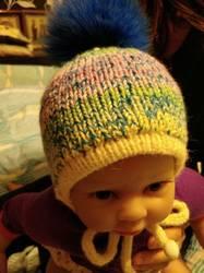 двойная шапочка для малыша