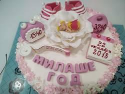 Тортик на ДР доченьки моей племяшки