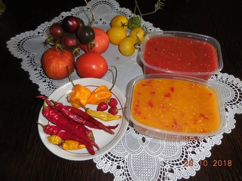 Соус из помидор с острым перцем