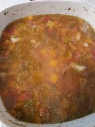 Суп из тыквы. Не пюре, кусочками.