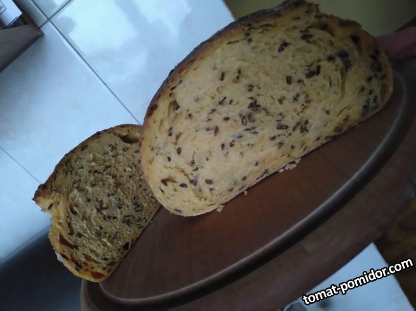 Хлеб тыквенный на закваске от Гали-brilliant
