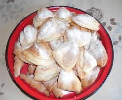 Яблоки в платочке (творожное тесто)