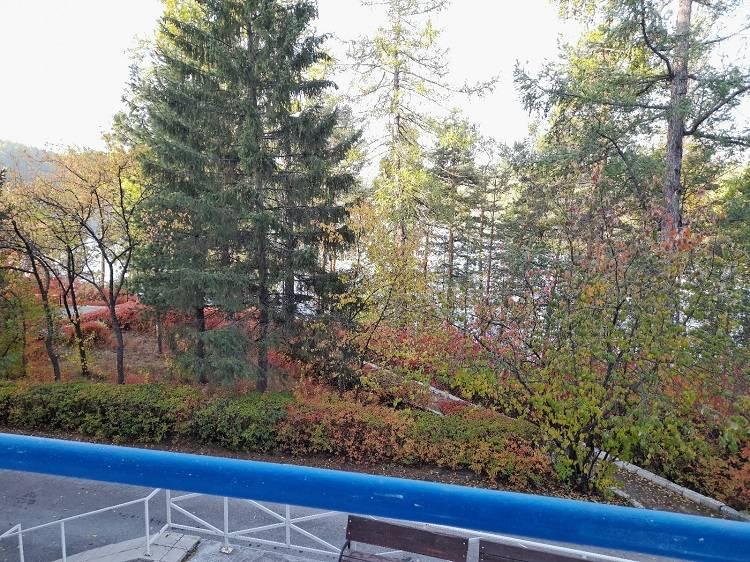 Вид с балкона на озеро Кошкуль.