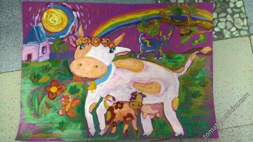 Повеселимся-коров понарисовали!