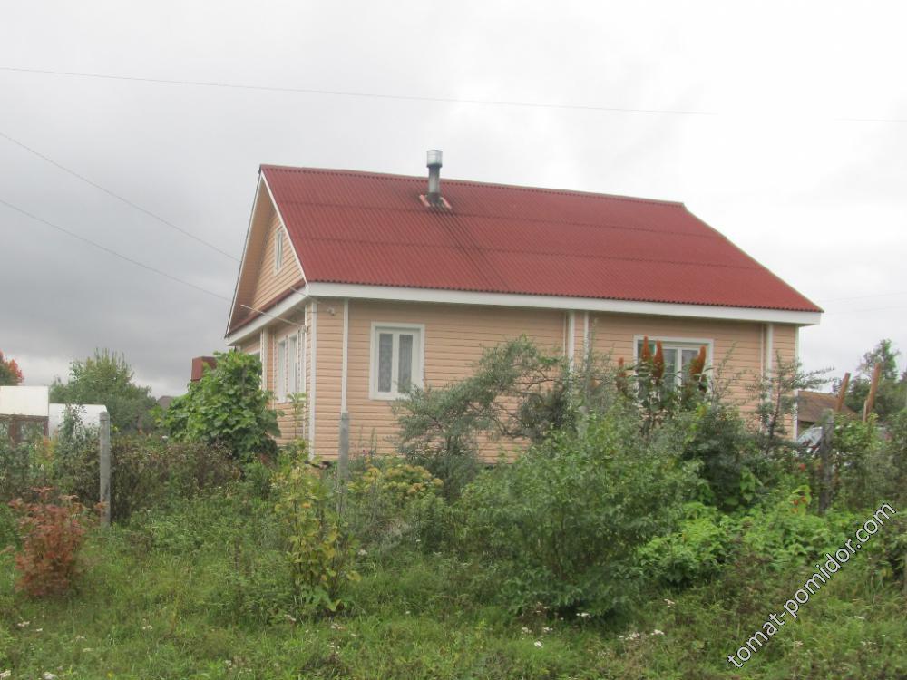 Обшивка дома закончена на этот год