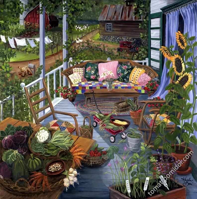 про огород языком живописи