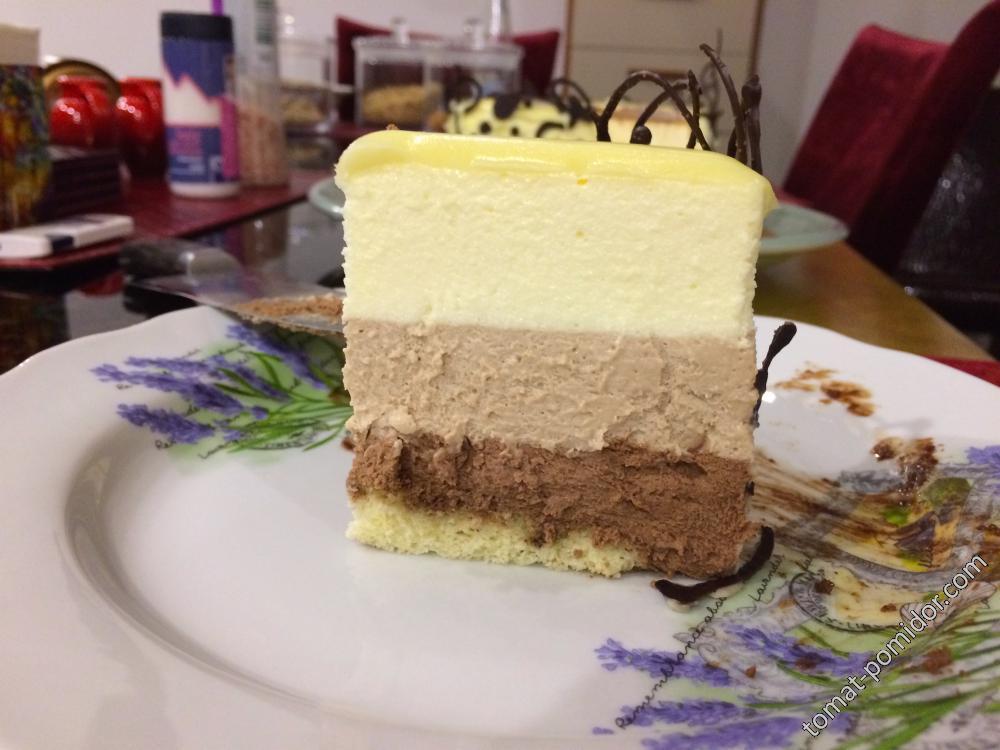 """Нежный вариант торта """"Три шоколада"""" -2"""