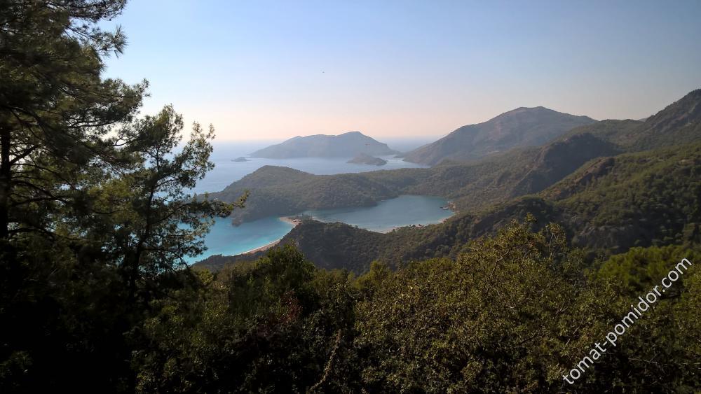 Голубая лагуна-фото с ликийской тропы